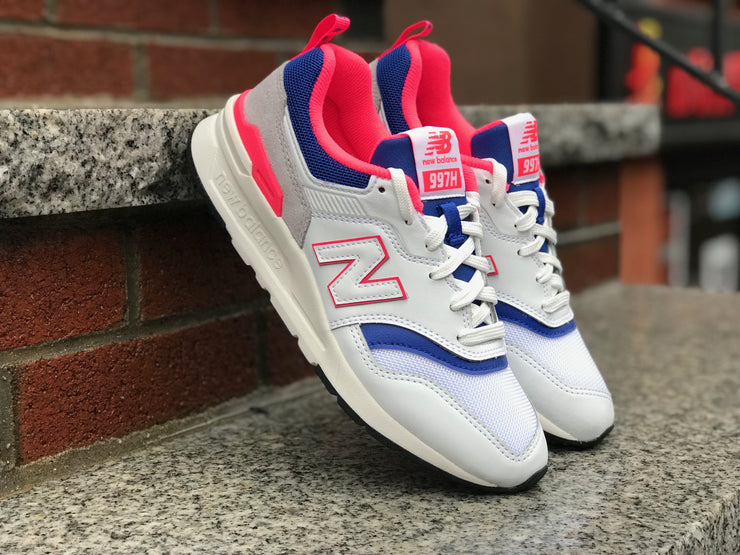 Women's New Balance CW997HAJ White Team Royal Pink