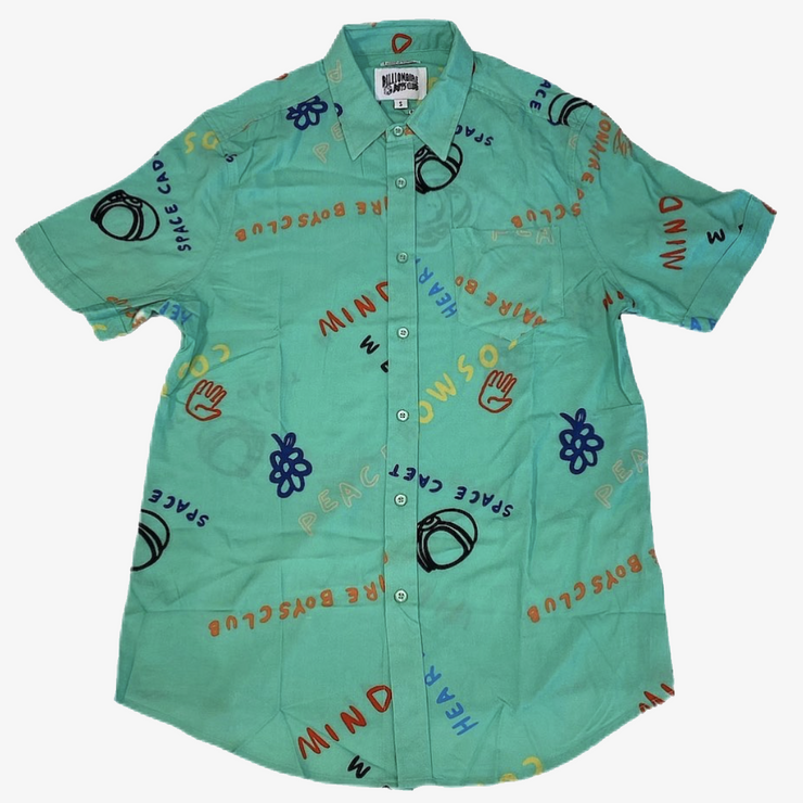 BBC BB Cadet SS Woven Button Up Spring Bud