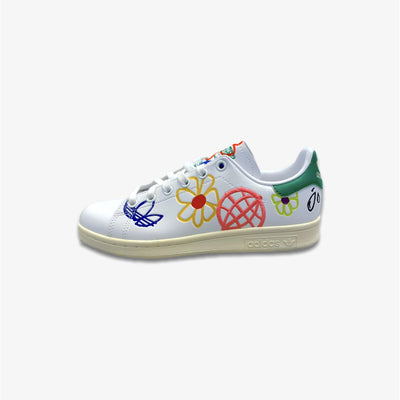 Women's Adidas Stan Smith FX5653 White Multicolor Floral