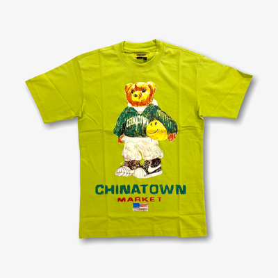Chinatown Market Smiley Sketch Basketball Bear T-shirt Yellow