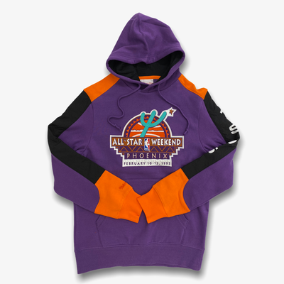 Mitchell & Ness All Star NBA Fusion Fleece Hoodie Purple