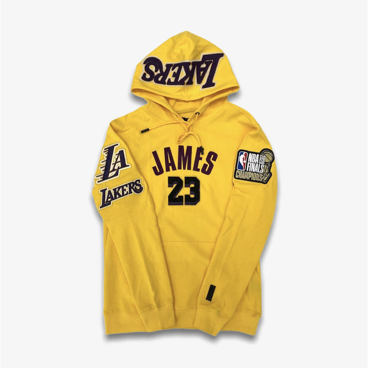 Pro Standard Lakers LeBron James Pullover Yellow