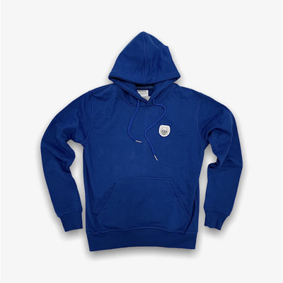 Sneaker Junkies Classic Leather Patch Hoodie Royal Blue