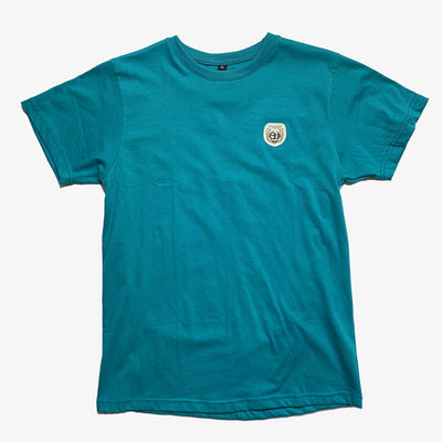 Sneaker Junkies Patch Logo Tee Aqua