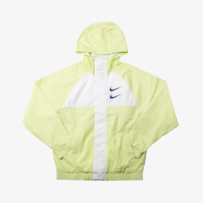 Nike Sportswear Swoosh Windbreaker Jacket Barely Volt White Black CJ4888-701