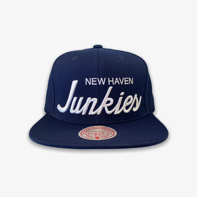 Mitchell & Ness New Haven Junkies Snap Back Navy