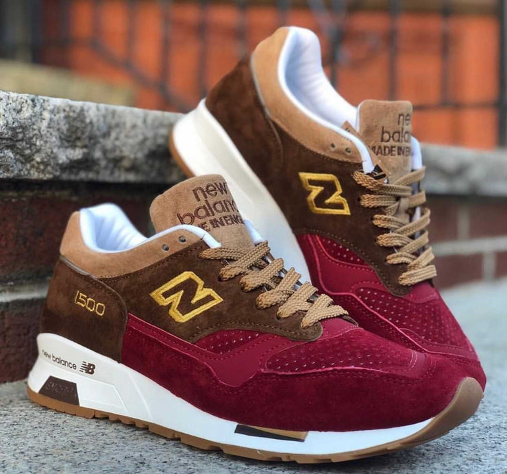 New Balance 1500 Maroon Brown Gold England M1500RNR