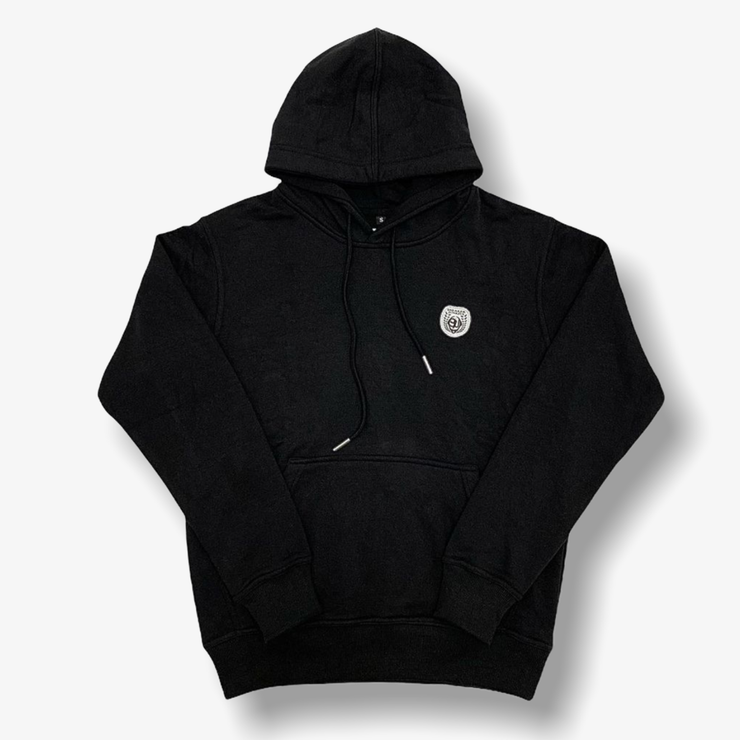Sneaker Junkies Classic Leather Patch Hoodie Black
