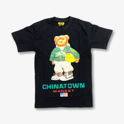 Chinatown Market Smiley Sketch Basketball Bear T-shirt Black