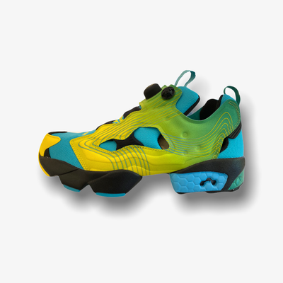 Reebok Chromat Instapump Fury Emerald Alerty Yellow Glacier Blue FY0825