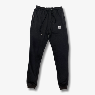 Sneaker Junkies Classic Leather Patch Logo Sweatpants Black