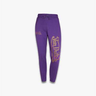 Von Dutch RHINESTONE FLEECE JOGGER Purple
