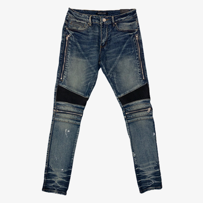 Embellish Sunny Biker Denim Blue Wash