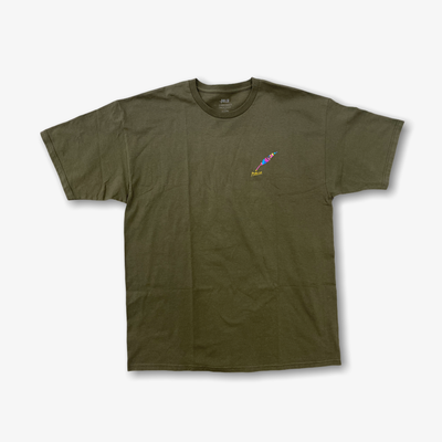 Publish Painted Quill Graphic olive T-shirt