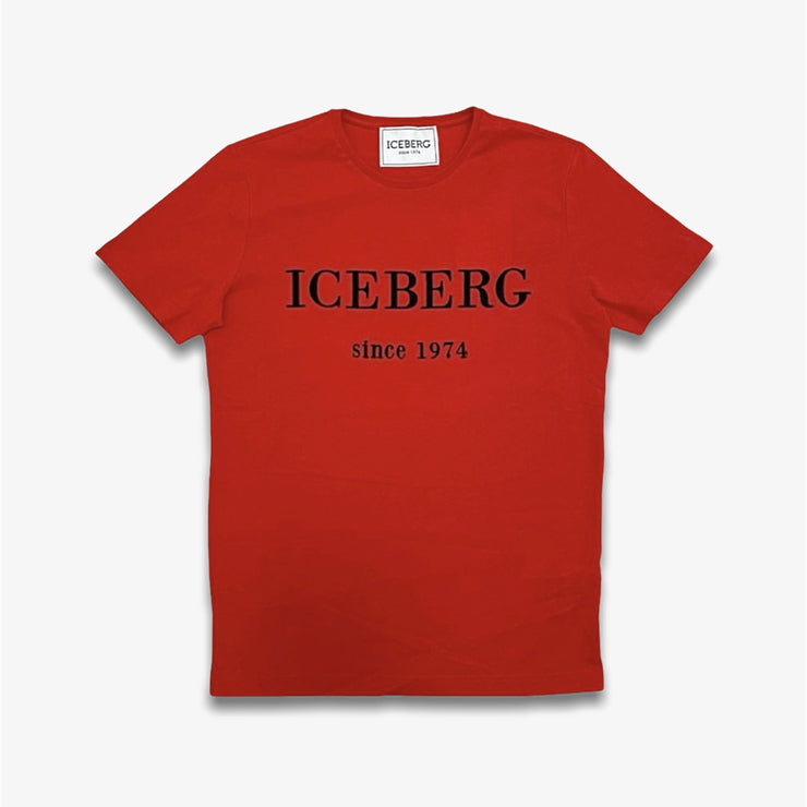 Iceberg T-shirt Large Logo Red