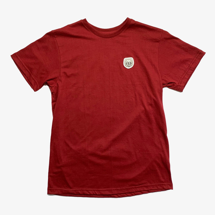 Sneaker Junkies Patch Logo Tee Burgundy
