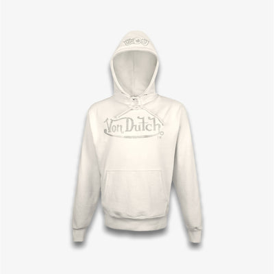 Von Dutch RHINESTONE FLEECE HOODIE Cream