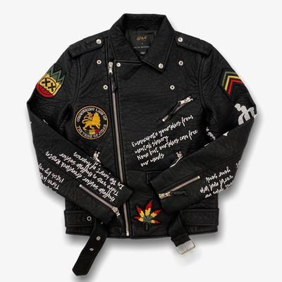 Cult Of Individuality x Bob Marley Leather Moto Jacket