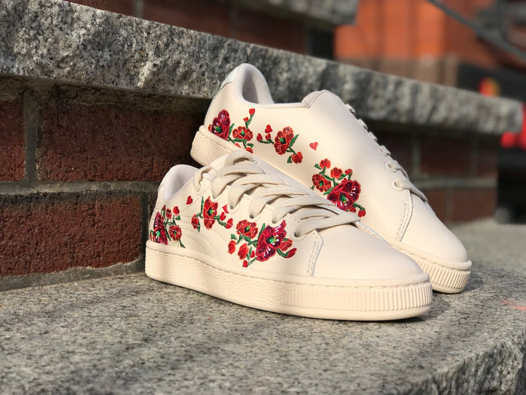 "Puma Womens Basket ""Cherry Bombs"" S.TSAI 369387-01"