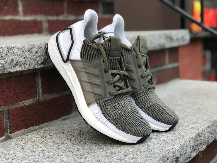 Adidas Ultraboost 19 olive white F35243