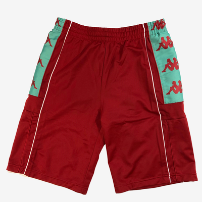 Kappa 222 Banda 10 Arwell Red Chilli Teel Shorts