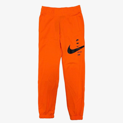 Women's Nike Swoosh Fleece Pants Orange Black CU5631-803