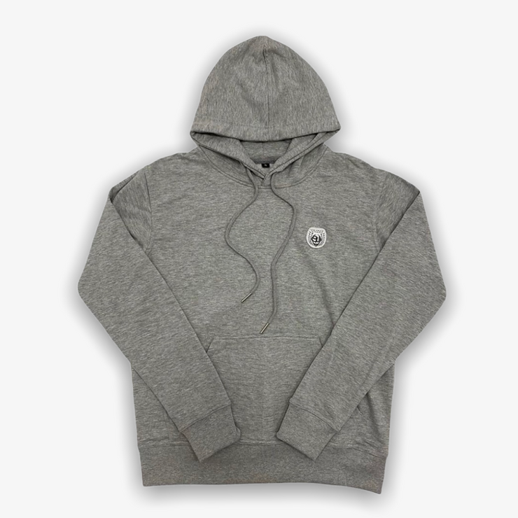 Sneaker Junkies Classic Leather Patch Hoodie Grey