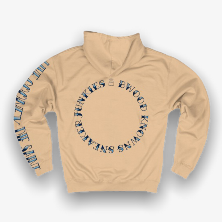 B Wood X Sneaker Junkies Sink or Swim Ocean State Hoodie Nude