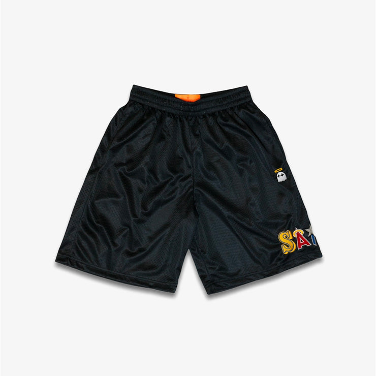 B Wood Saint Trainer Shorts Black