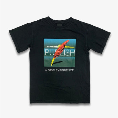 Publish A New Experience Graphic Black T-Shirt