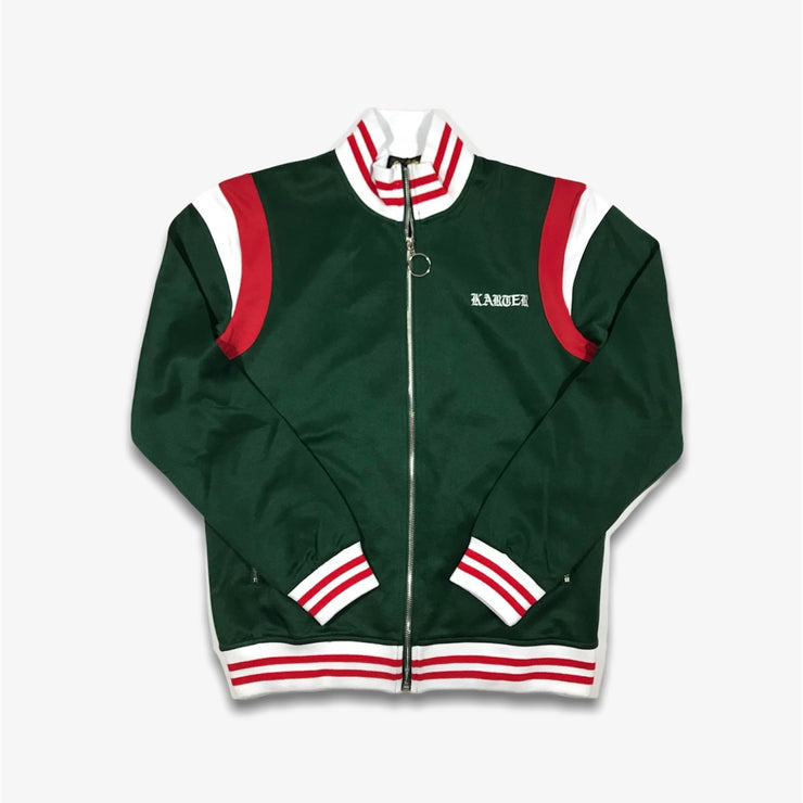 Karter Collection Roosevelt Track Jacket Green