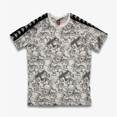 Kappa 222 Banda Coen Disney T-Shirt White Grey Graphic
