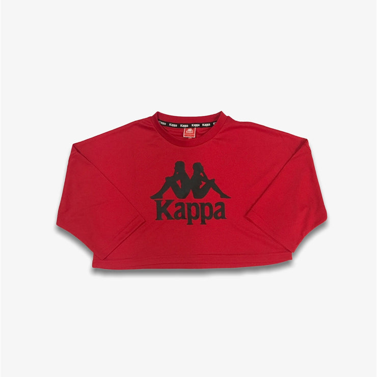 Kappa Womens Authentic Anak Crop Red