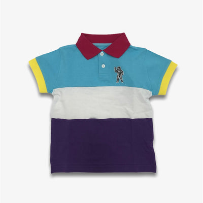 BBC BB Ring Master SS Polo Infants White Multi