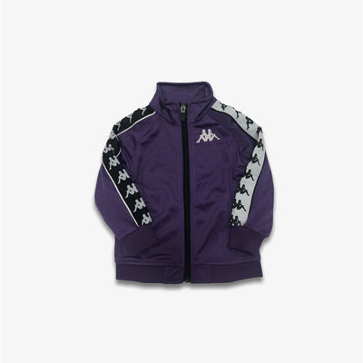 Kappa 222 Banda Anniston Slim Alternating Banda Youth Sizes Violet Black White Track Jacket