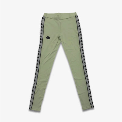 Kappa Womens 222 Anen Leggings Green Grey Silver