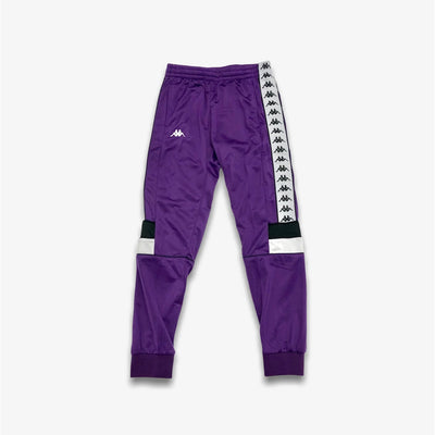 Kappa 222 Banda Memzz Violet Black White Trackpants