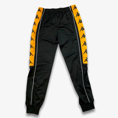 Kappa 222 Banda 10 Alien Black Orange Trackpants Joggers