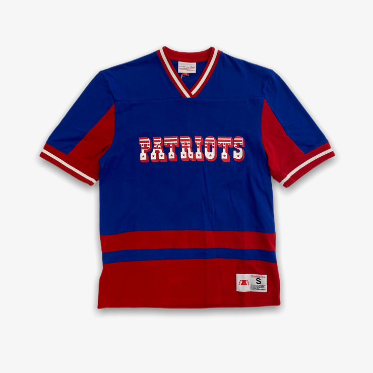 Mitchell & Ness New England Patriots Final Seconds V Neck Blue