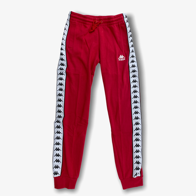 Kappa Womens 222 Banda Barnu 2 Sweat Pants Red Cyclamen White