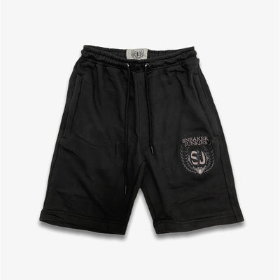 Sneaker Junkies Logo shorts Black