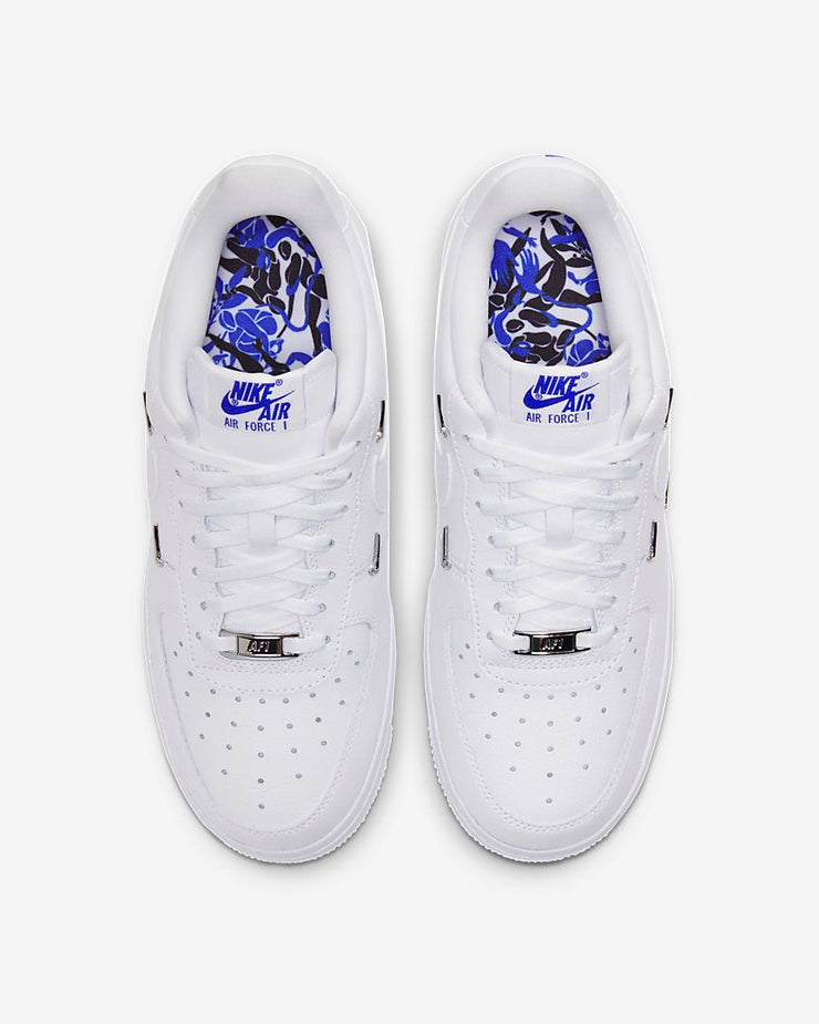 Nike Womens Air Force 1 '07 LX White Hyper Royal Black CT1990-100