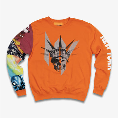 B Wood NY liberty crew Orange
