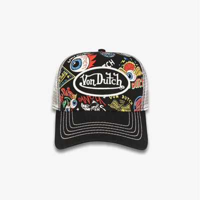 Von Dutch Jax Classic Trucker Black White