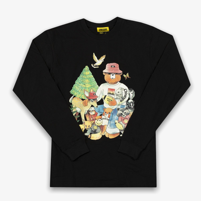 Chinatown Market Smiley Friends LS Tee Black