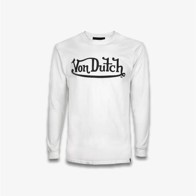 Von Dutch White Black Long Sleeve T-shirt