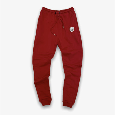 Sneaker Junkies Leather Patch Logo Sweatpants Red