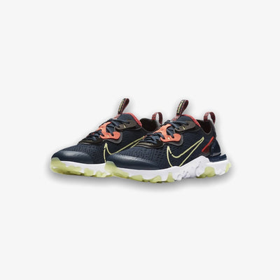 Nike React Vision Deep Ocean Limelight Black Grade School CD6888-402
