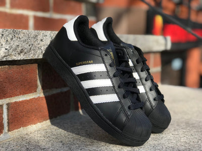 Adidas Grade School Superstar B23642 Black Gold White