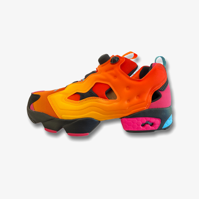 Reebok Chromat Instapump Fury Solar Orange Alert Yellow Black FZ3432